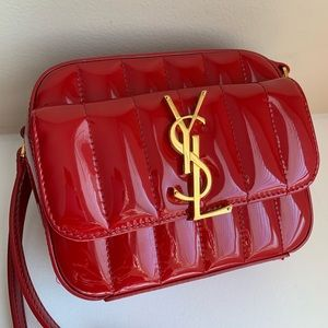 YSL (Saint Laurent) Vicky Bag In Quilted Leather